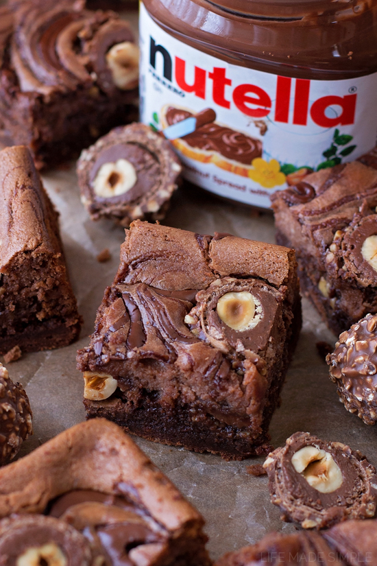 Nutella Cheesecake Brownies | lifemadesimplebakes.com,