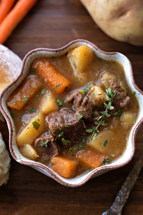 Vegetable Beef Stew in bowl