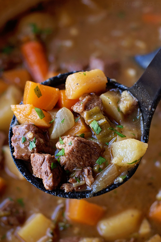 Beef and Vegetable Stew | lifemadesimplebakes.com