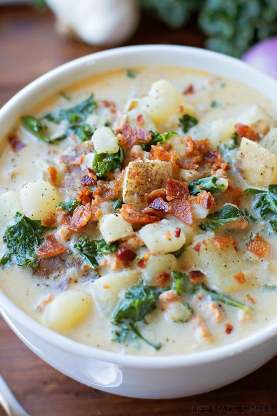 Homemade Zuppa Toscana | lifemadesimplebakes.com