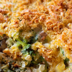 Lightened Up Broccoli Casserole | lifemadesimplebakes.com