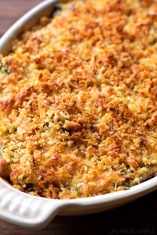 Broccoli casserole in dish