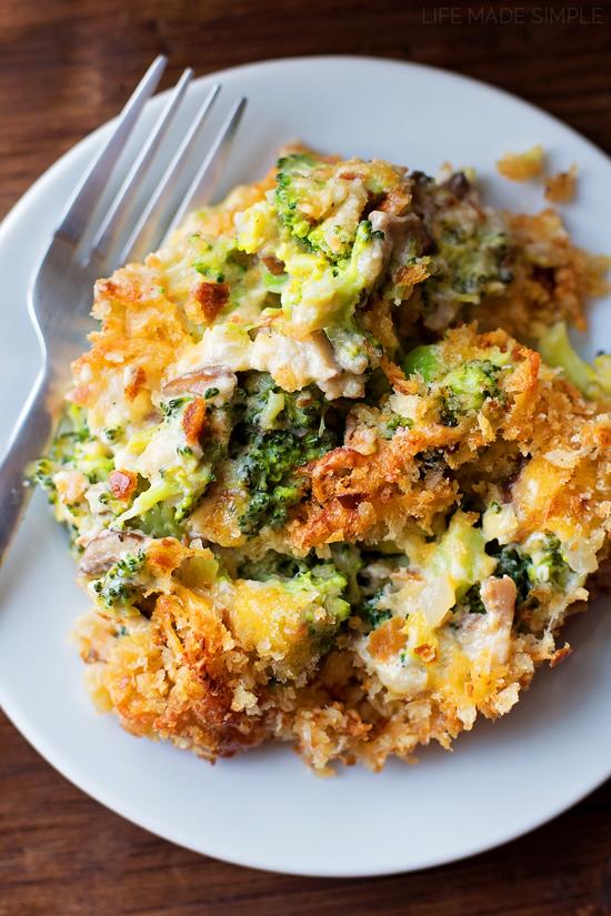 Healthy broccoli casserole recipe on plate