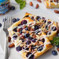 Blueberry Almond Cream Cheese Danish | lifemadesimplebakes.com
