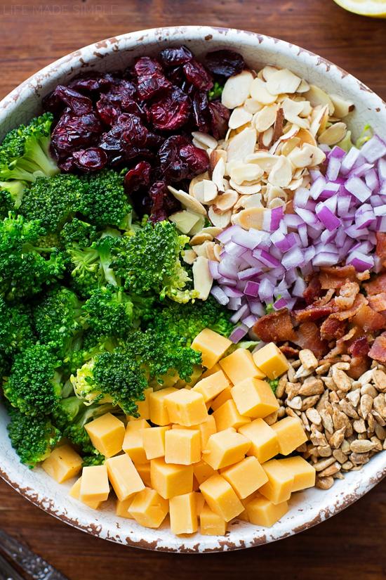 Broccoli Salad with Lemon Poppy Seed Yogurt Dressing   lifemadesimplebakes.com