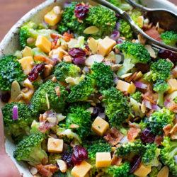 Broccoli Salad with Lemon Poppy Seed Yogurt Dressing | lifemadesimplebakes.com