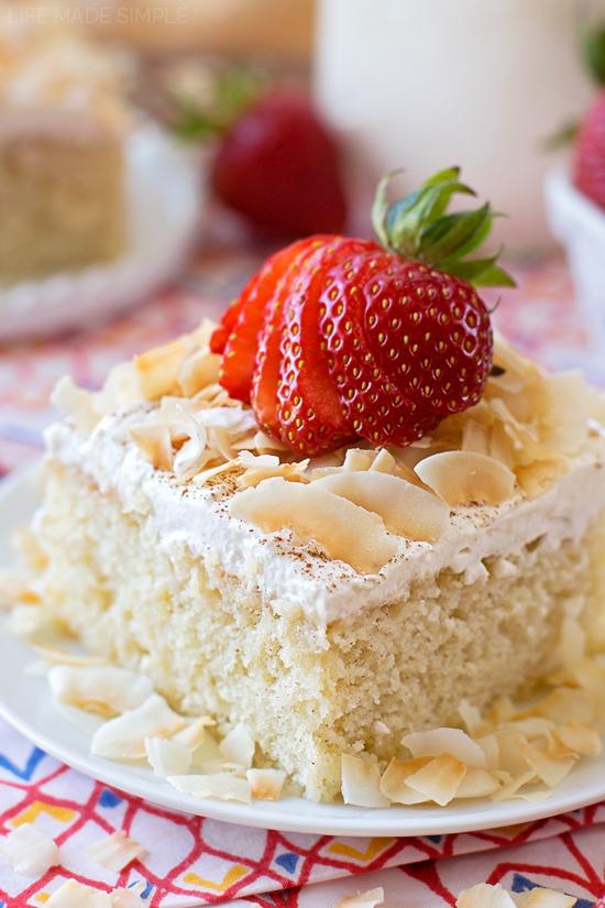 Tres Leches Cake | lifemadesimplebakes.com
