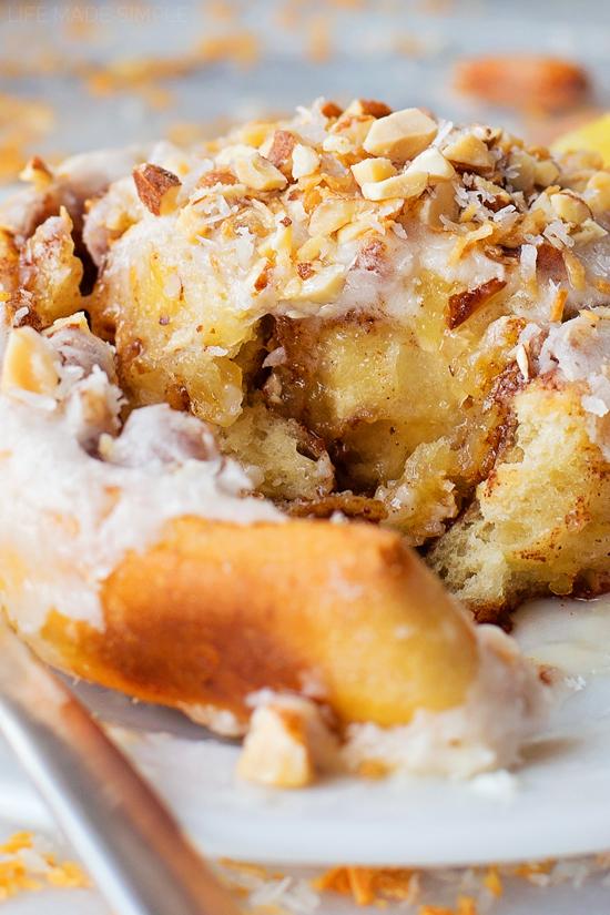 Tropical Cinnamon Rolls   lifemadesimplebakes.com