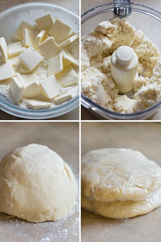 Apple pie dough process pictures