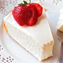 No-Bake Strawberry Topped Cheesecake   lifemadesimplebakes.com
