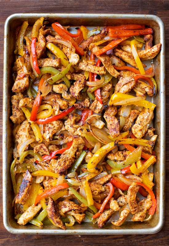 Chicken Fajitas in oven