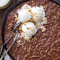 Texas Sheet Cake Skillet   lifemadesimplebakes.com