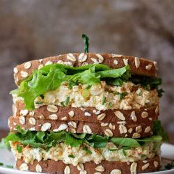 Deviled Egg Salad Sandwiches | lifemadesimplebakes.com
