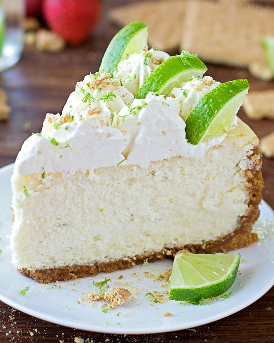 Key Lime Cheesecake | lifemadesimplebakes.com