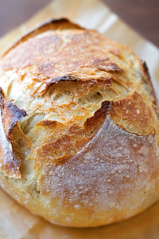 No Knead Artisan Bread Just 4 Ingredients Life Made Simple