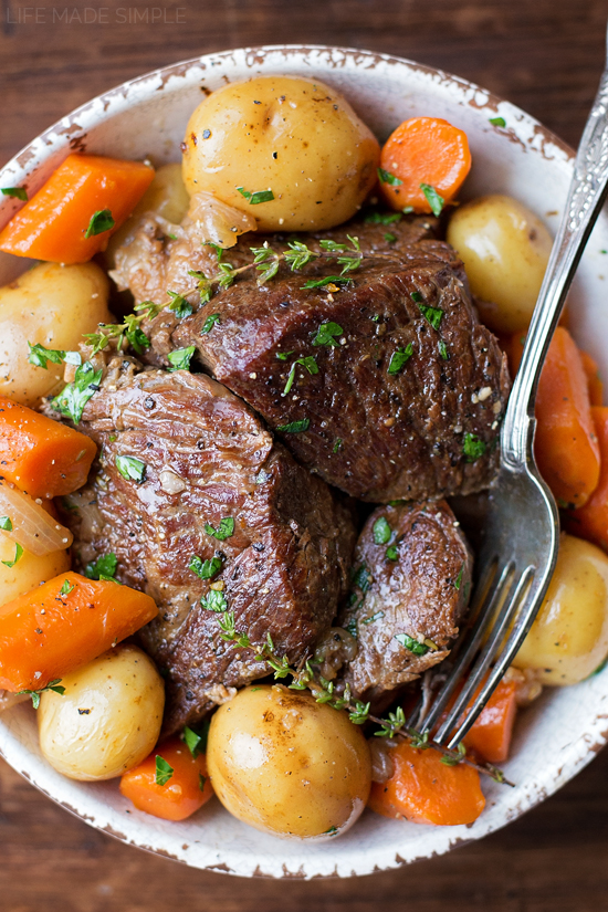 One Pot pot roast recipe with veggies