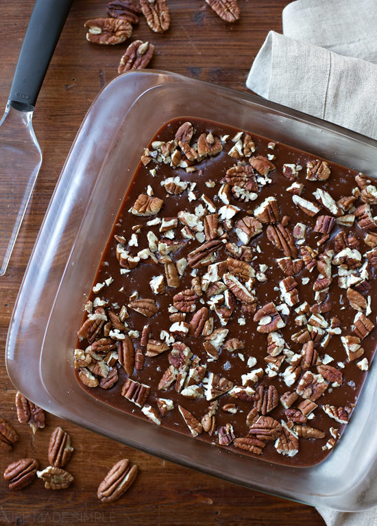 Salted Chocolate-Caramel Bars | lifemadesimplebakes.com