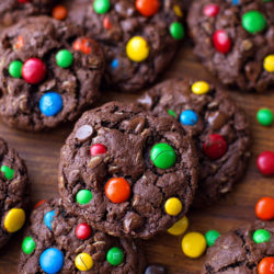 Dark Chocolate Monster Cookies | lifemadesimplebakes.com