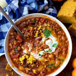 Turkey Pumpkin Chili | lifemadesimplebakes.com