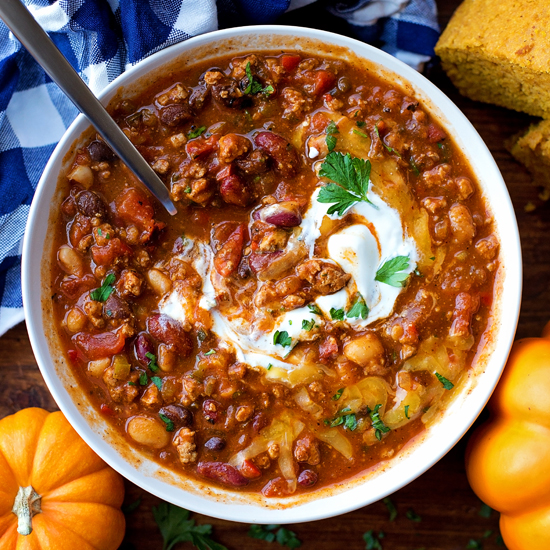 Turkey Pumpkin Chili Hearty Flavorful Life Made Simple
