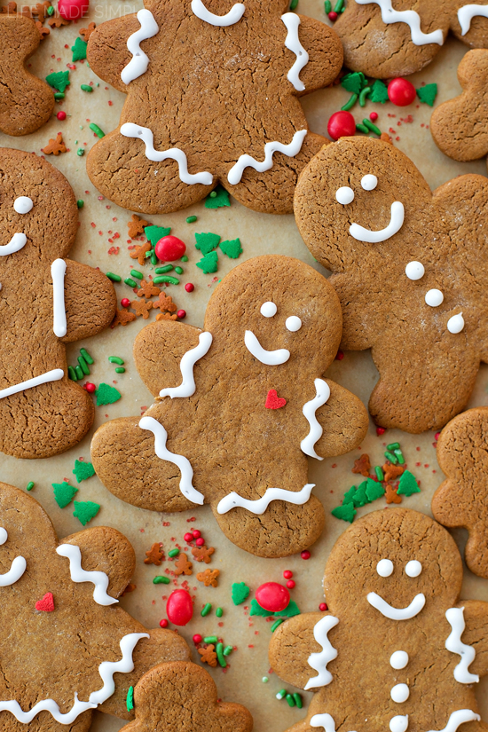 Classic gingerbread cookies decorated