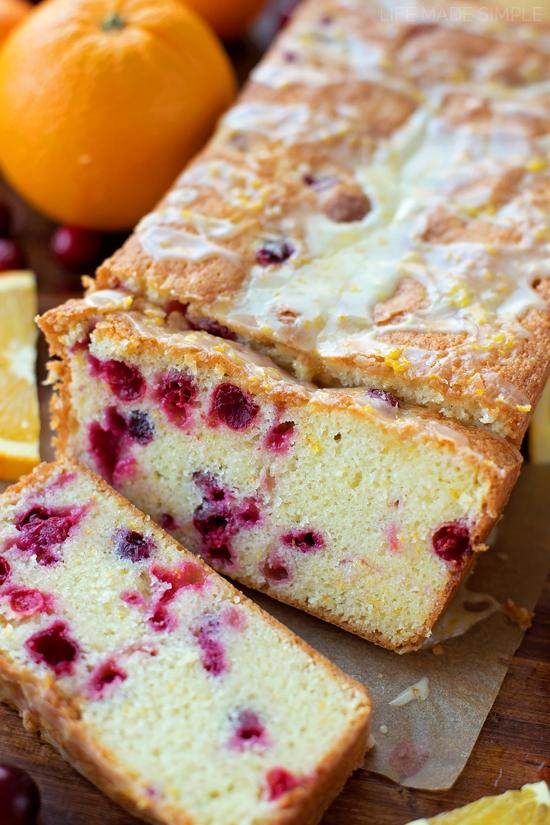 Cranberry Orange Pound Cake | lifemadesimplebakes.com