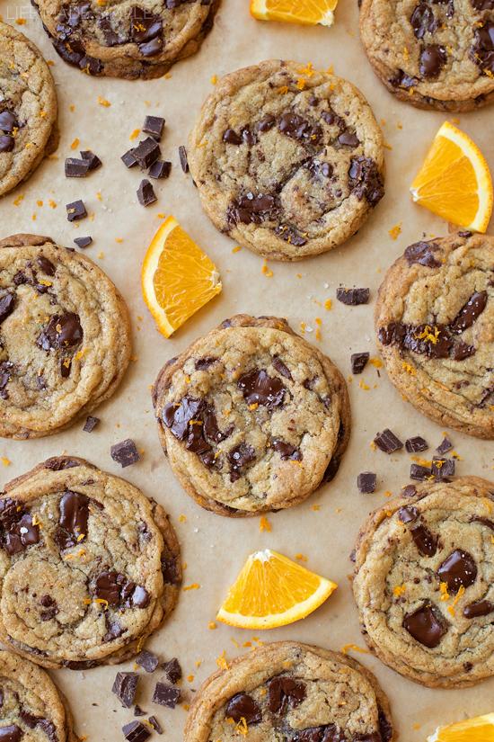 Orange Dark Chocolate Chunk Cookies | lifemadesimplebakes.com