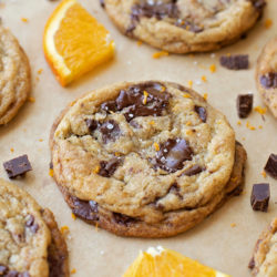 Orange Dark Chocolate Chunk Cookies | lifemadesimplebakes.com