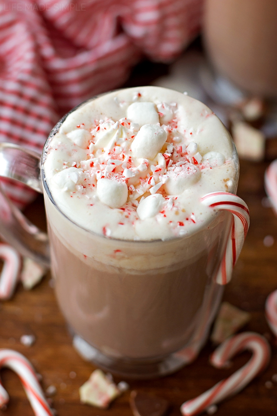 Peppermint Hot Cocoa | lifemadesimplebakes.com