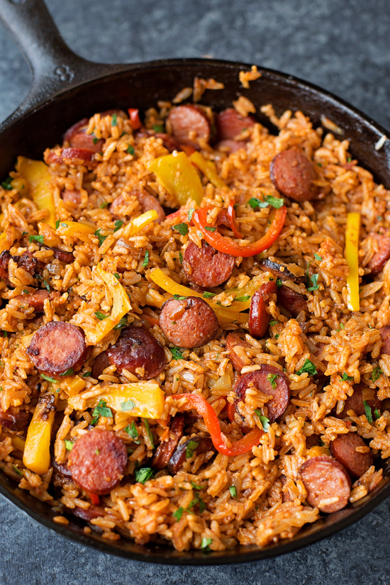 Sausage and Pepper Rice Skillet | lifemadesimplebakes.com