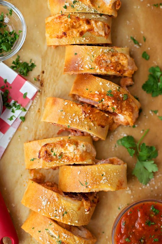 Pepperoni, Ham and Ricotta Stromboli | lifemadesimplebakes.com