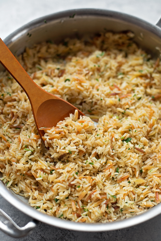 How to make rice pilaf in a skillet