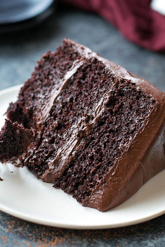 Chocolate Blackout Cake | lifemadesimplebakes.com