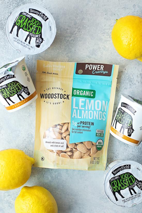 Ingredients for lemon poppyseed scone recipe