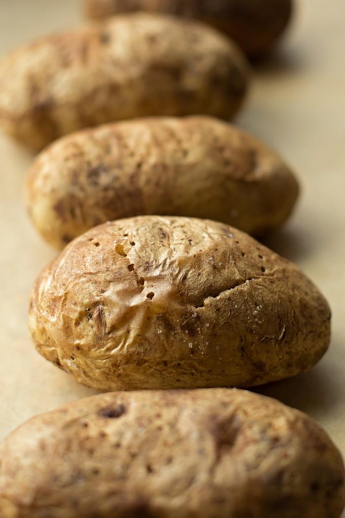 Cheesy Broccoli Stuffed Potatoes | lifemadesimplebakes.com