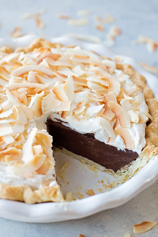 Chocolate Coconut Pie recipe