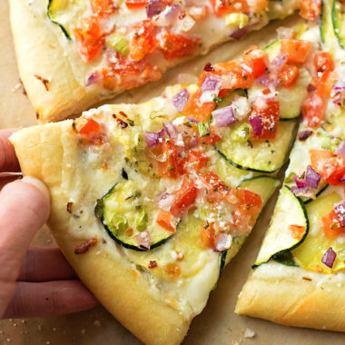 Garden Veggie Pizza | lifemadesimplebakes.com