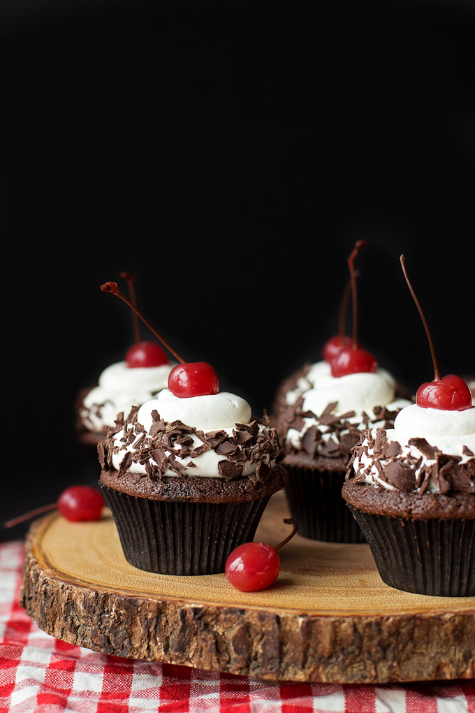 Delicious Black Forest Cupcakes made from scratch!