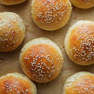 Homemade Brioche Burger Buns | lifemadesimplebakes.com