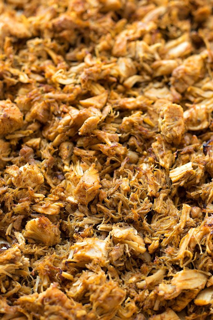 Instant pot shredded taco chicken