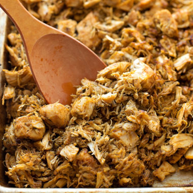 Instant Pot Shredded Chicken Tacos | lifemadesimplebakes.com