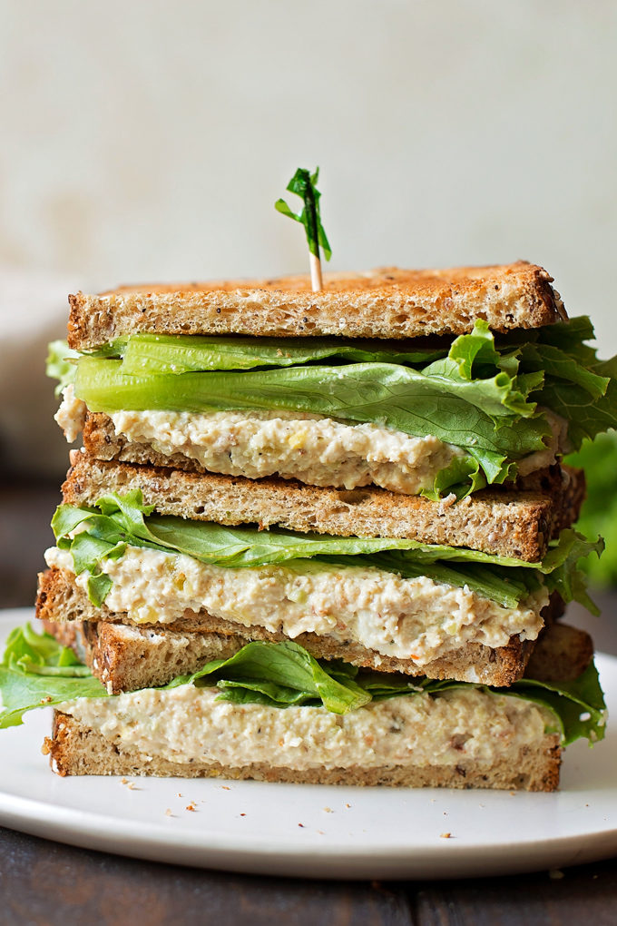 Copycat Chick-fil-A Chicken Salad Sandwich on a white plate