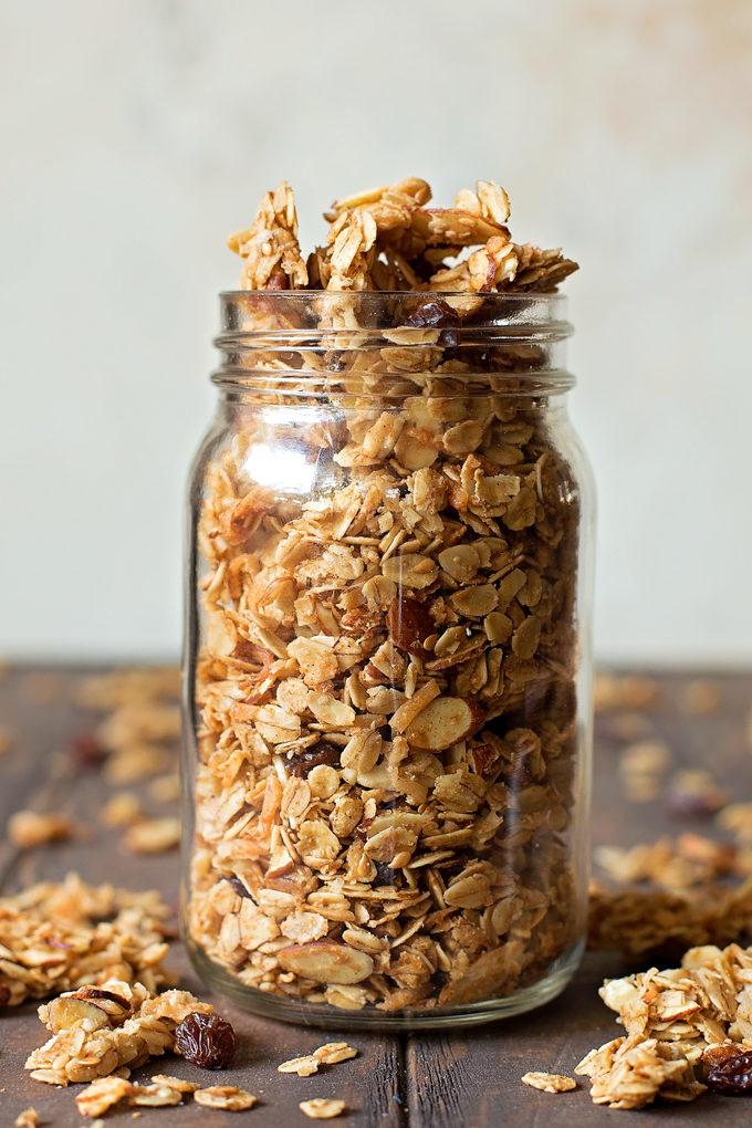 Chunky Homemade Granola | lifemadesimplebakes.com