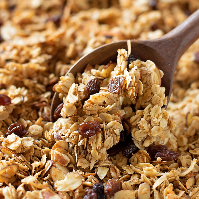 Chunky Homemade Granola - Life Made Simple