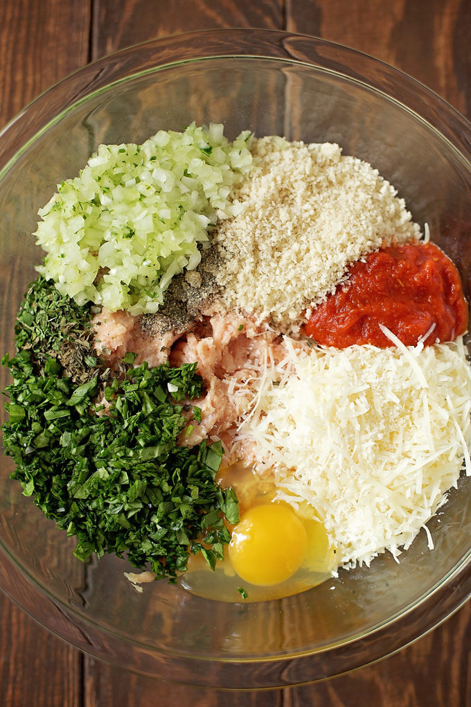 Chicken Parmesan Meatballs | lifemadesimplebakes.com