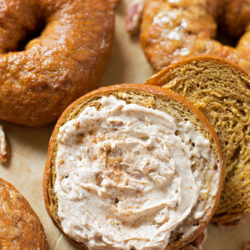 Homemade Pumpkin Bagels | lifemadesimplebakes.com
