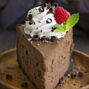 Perfect Chocolate Cheesecake | lifemadesimplebakes.com