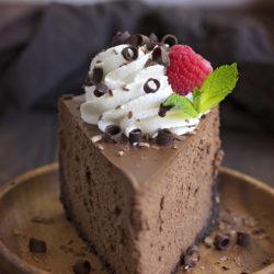 Perfect Chocolate Cheesecake | lifemadesimplebakes.com
