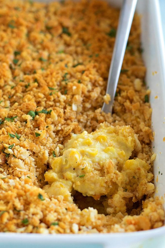 Creamy Corn Casserole | lifemadesimplebakes.com
