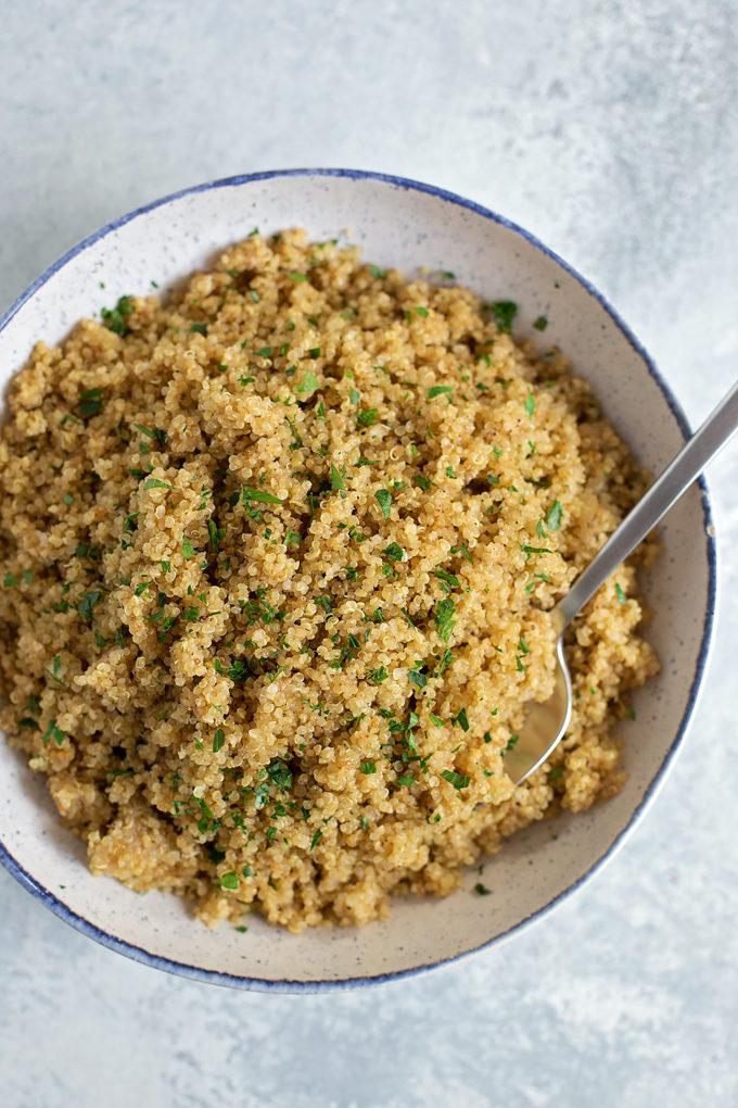 Instant Pot Quinoa Pilaf   lifemadesimplebakes.com